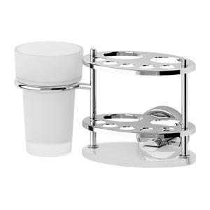 Держатель з/щеток и пасты со стаканом (стекло) FBS ELLEA арт. ELL 061
