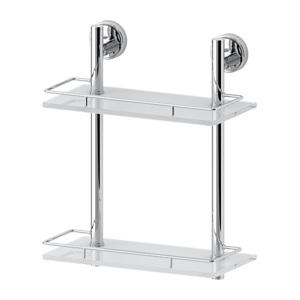 Полка с ограничителем 30 см двойная (стекло) FBS ELLEA арт. ELL 062