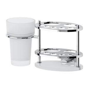 Держатель з/щеток и пасты со стаканом (стекло) FBS ESPERADO арт. ESP 061