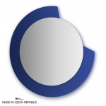 Зеркало с фацетом 10 мм на синем основании 80Х80 см FBS COLORA арт. CZ 0602