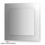 Зеркало с фацетом 10 мм на белом основании 70Х70 см FBS COLORA арт. CZ 0605
