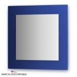 Зеркало с фацетом 10 мм на синем основании 70Х70 см FBS COLORA арт. CZ 0606