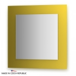 Зеркало с фацетом 10 мм на желтом основании 70Х70 см FBS COLORA арт. CZ 0607