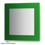 Зеркало с фацетом 10 мм на зеленом основании 70Х70 см FBS COLORA арт. CZ 0608
