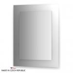 Зеркало с фацетом 10 мм на белом основании 70Х90 см FBS COLORA арт. CZ 0609