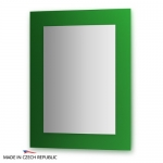 Зеркало с фацетом 10 мм на зеленом основании 70Х90 см FBS COLORA арт. CZ 0612