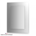 Зеркало с фацетом 10 мм на белом основании 60Х80 см FBS COLORA арт. CZ 0613