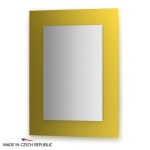 Зеркало с фацетом 10 мм на желтом основании 60Х80 см FBS COLORA арт. CZ 0615